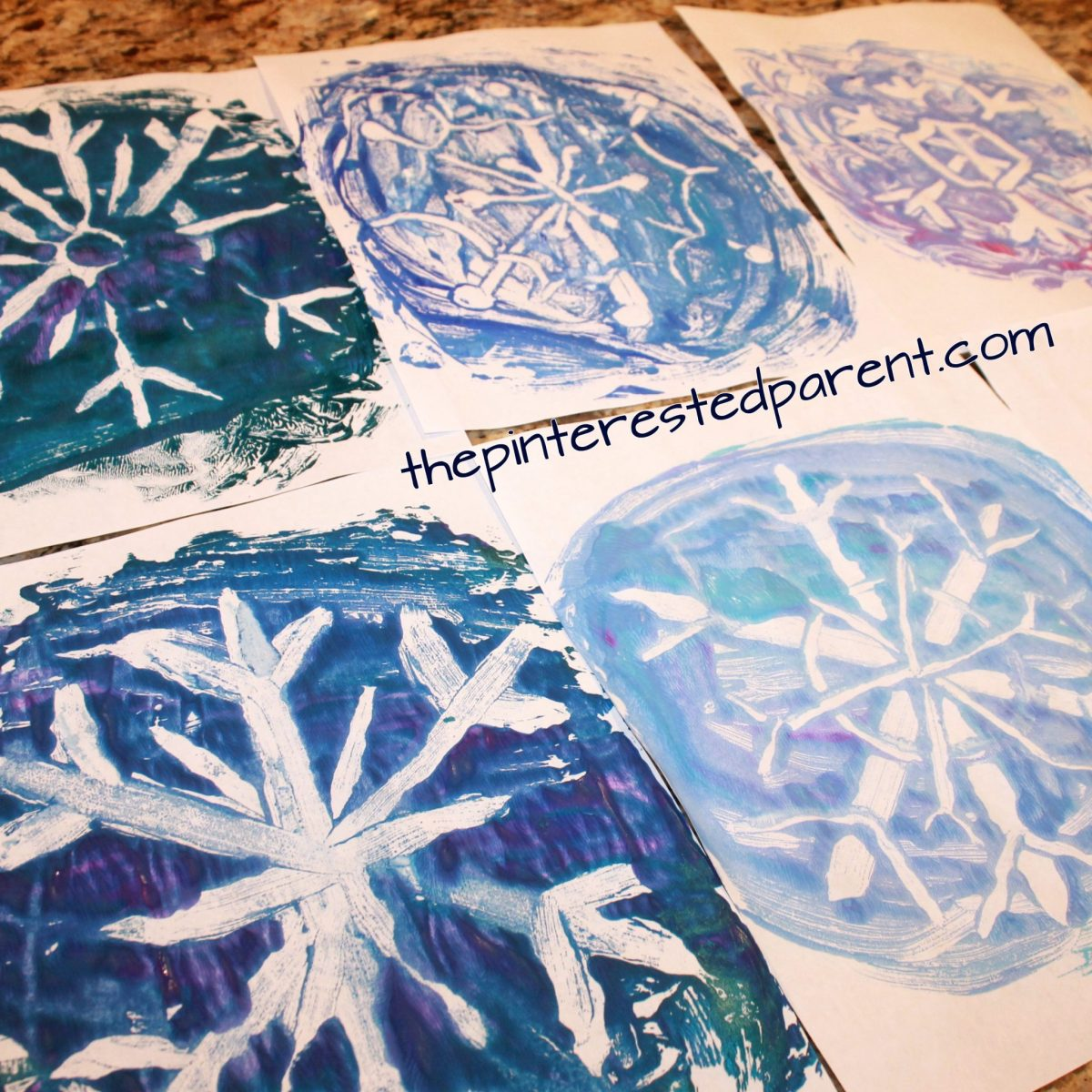 Tin Foil Snowflake Prints